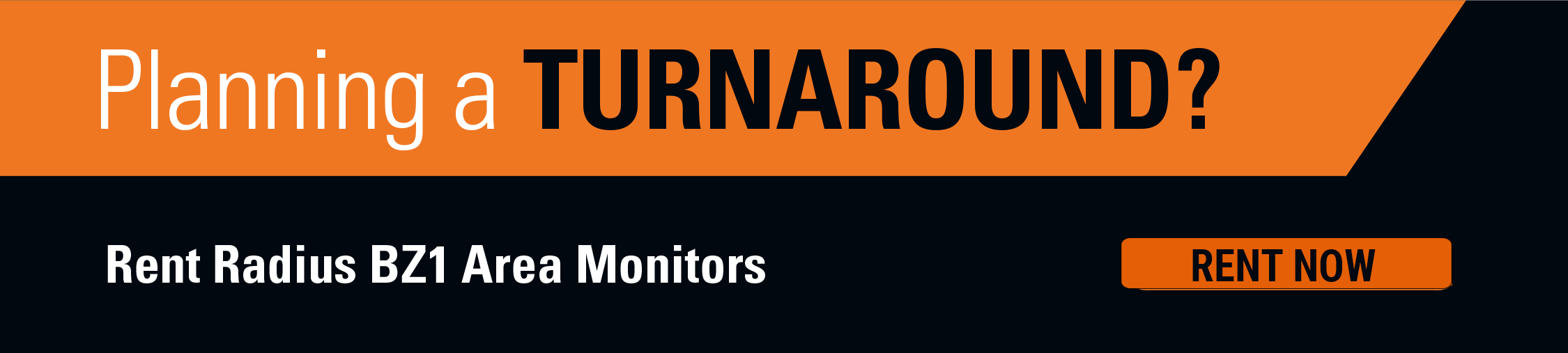 Huur direct Area-Monitors voor uw stops of turnarounds